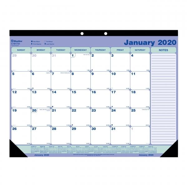 Blueline Desk/wall Calendar Pad   Blic181731