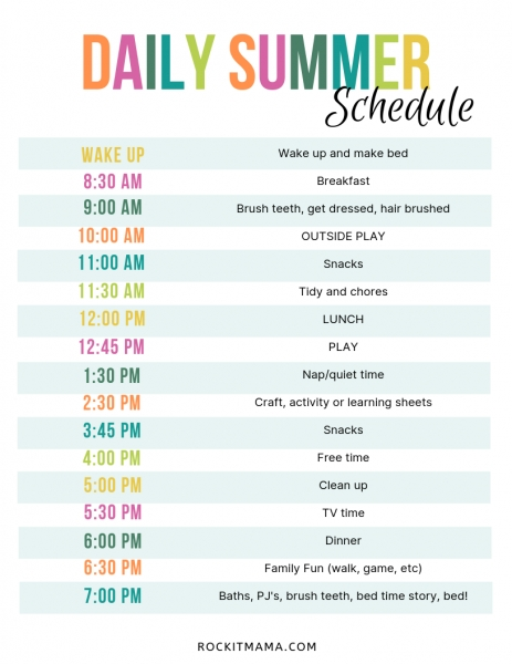 Create A Summer Activity Planner   Free Printable Included