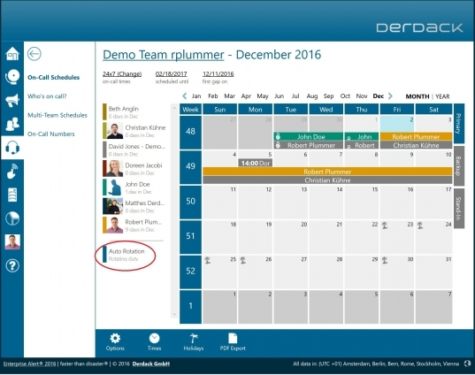 Derdack | On Call Schedule Management With Auto Rotation