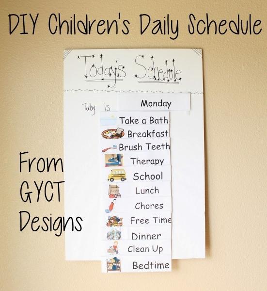 Diy Children's Daily Schedule | Daily Schedule, Daily