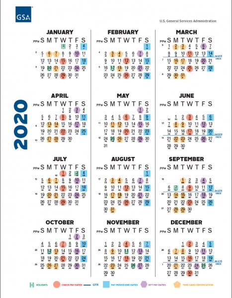 Gsa Payroll Calendar 2020 | Payroll Calendar