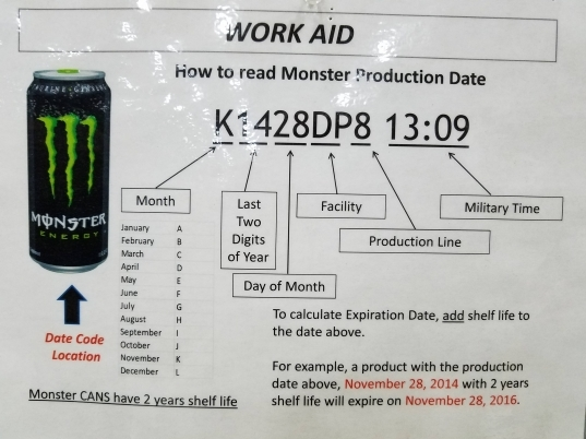 How To Read Your Monster Energy Drink Production Code   Imgur