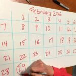 Leap Year Consecutive Calendar For Julien Dates