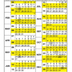 Printable Calendar 2020 With Federal Pay Day