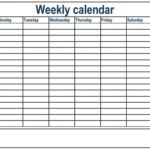 6 Day A Week Claendar With Time Slots