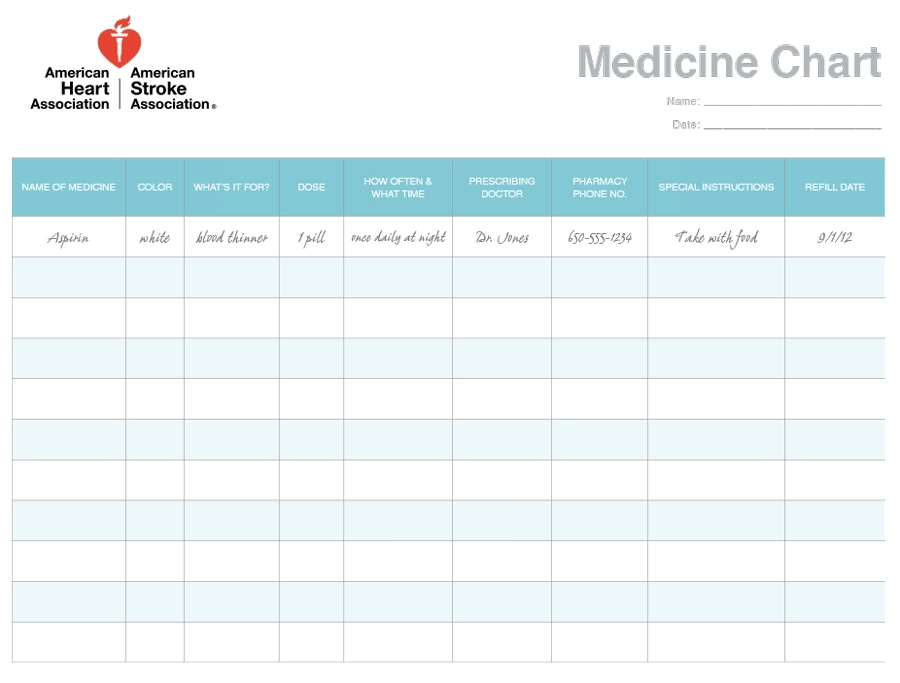 11+ Daily Medication Schedule Templates - Word Excel Formats