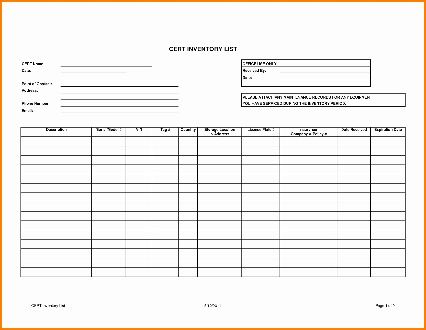 12-13 Simple Inventory List Template - Lascazuelasphilly