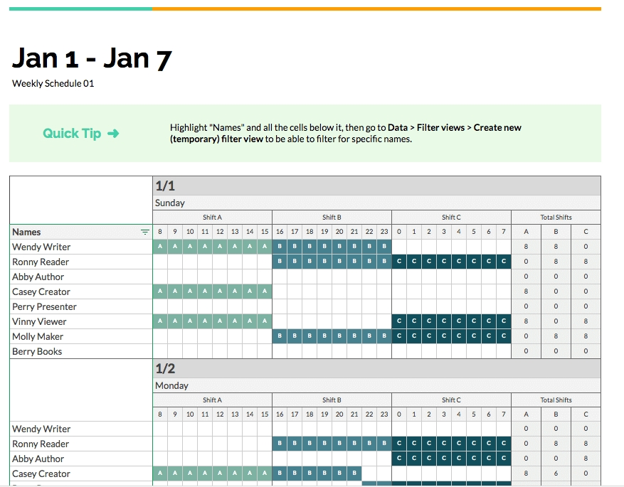 2 Free Ways To An Employee Shift Schedule | Homebase