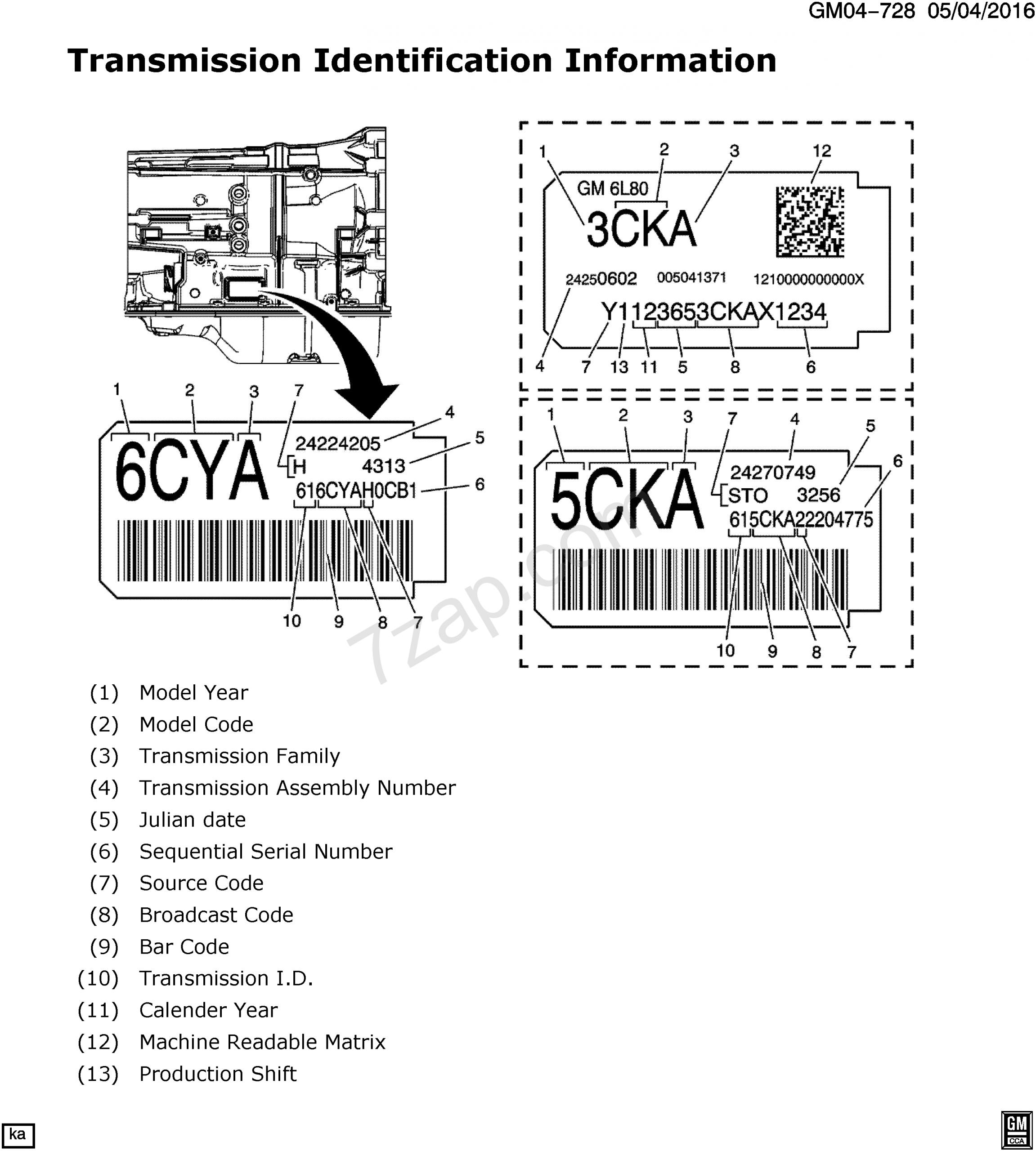 2011-2017 Ek19 Automatic Transmission (Myc) (6L80