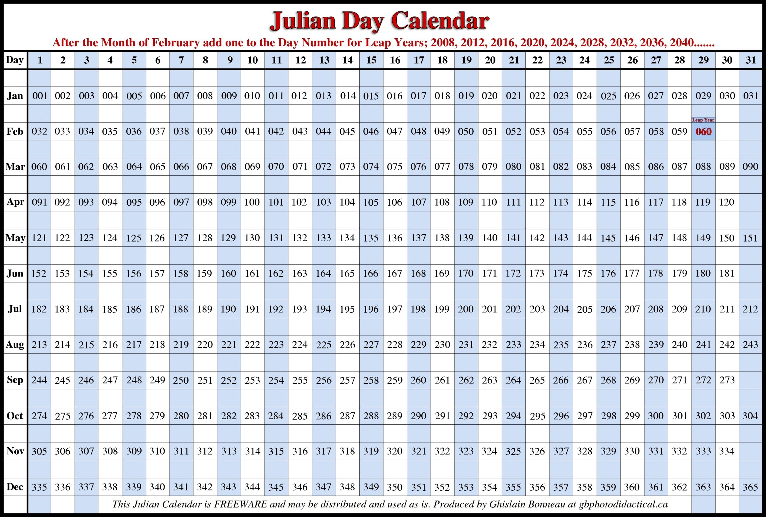 2016 Julian Calendar Pdf :-Free Calendar Template