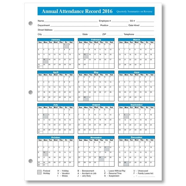 2016%2Bemployee%2Battendance%2Bcalendar%2B3 | Calendar