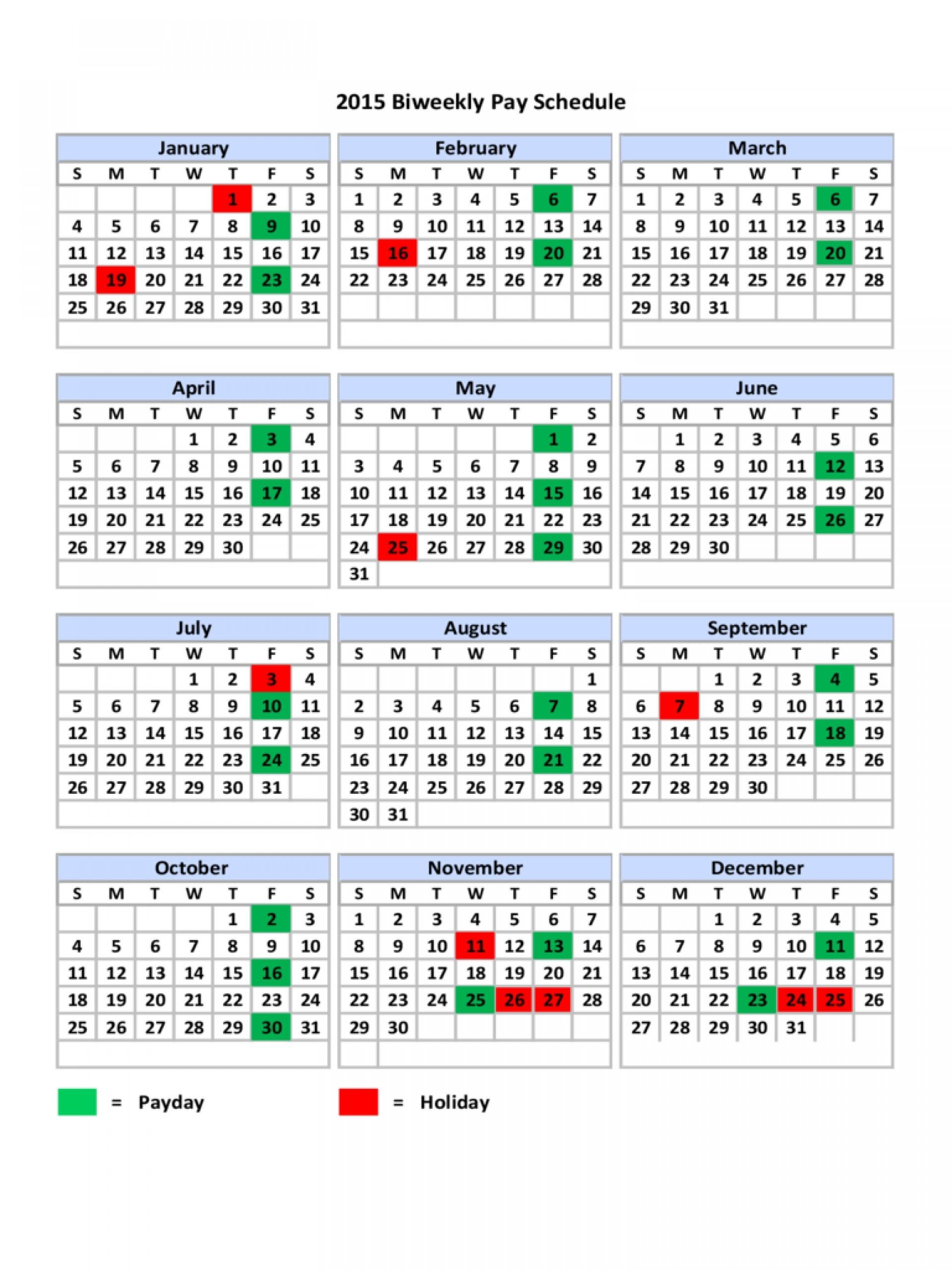 2018 Biweekly Payroll Calendar Excel | Payroll Calendars 2020