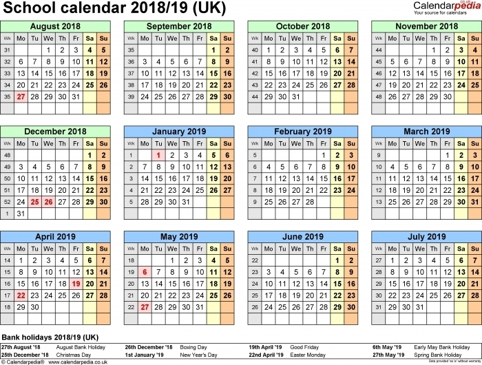 2018 Days Numbered 1 To 365 :-Free Calendar Template