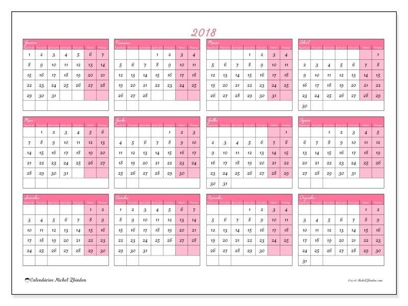 2018Para Imprimir, Livre. Calendário Anual : Irenaeus (Sf