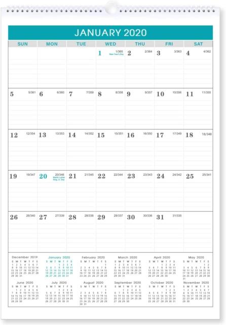 2020-2021 Calendar - 18 Months Wall Calendar 2020-2021