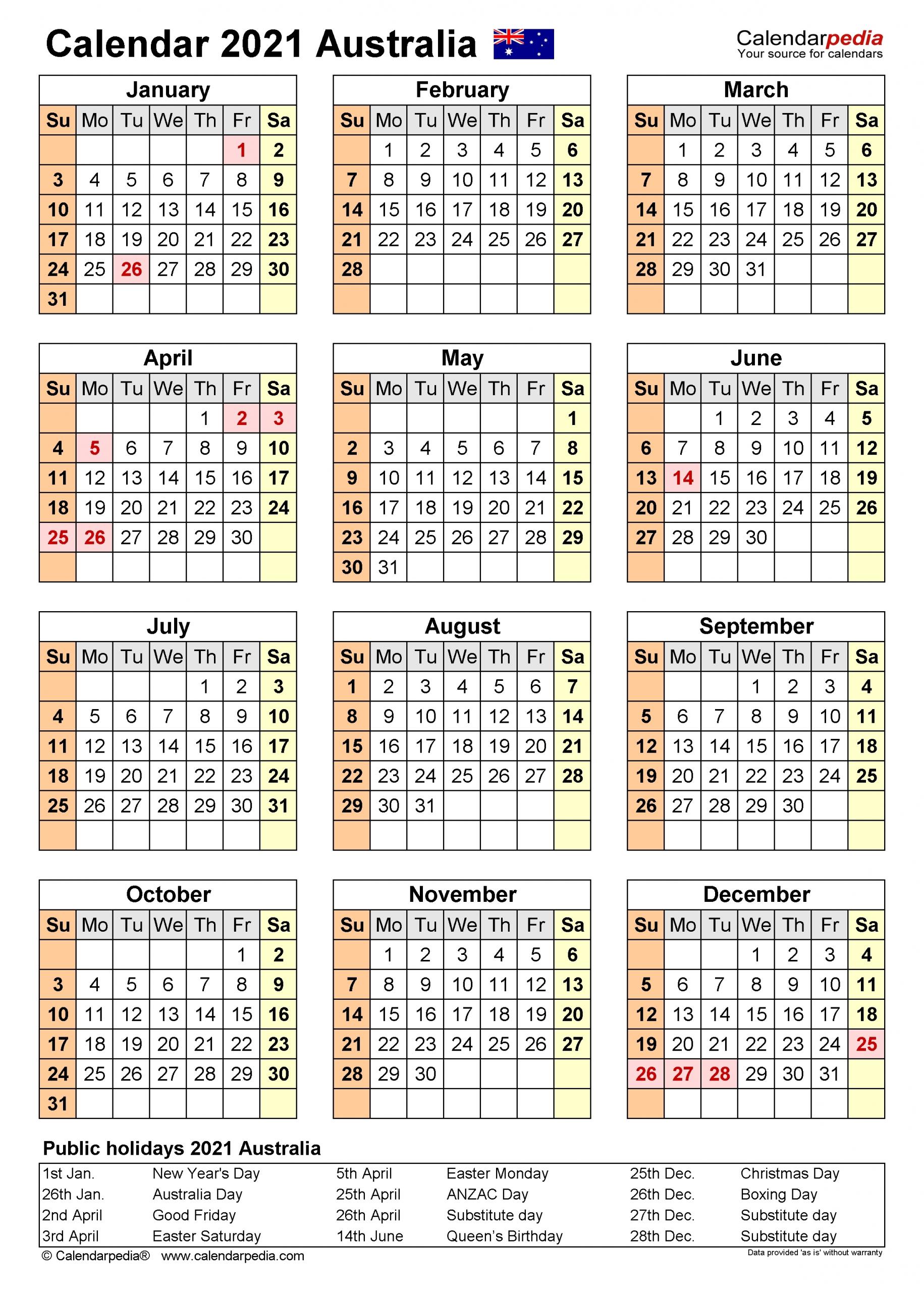 2020 2021 Financial Calendar Australia – Template Calendar