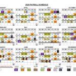 2020 Federal Pay Date Calendar