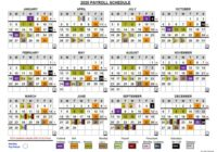 2020 & 2021 Pay Periods Calendar