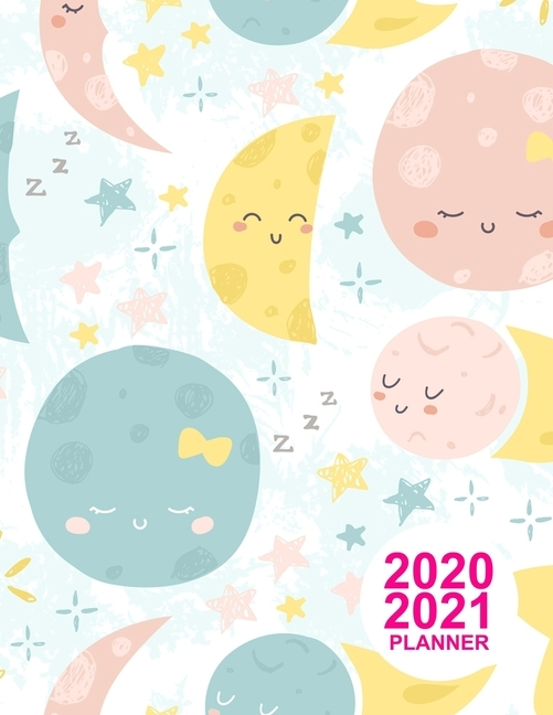 2020 2021 Planner: Nifty Two Year - Monthly Calendar