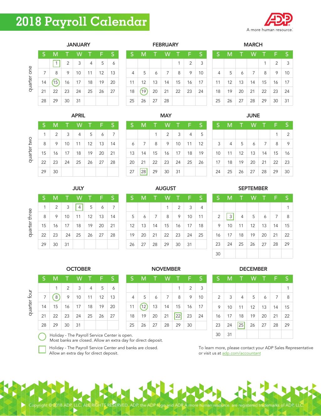 2020 Adp Payroll Calendar Biweekly | Payroll Calendar 2020