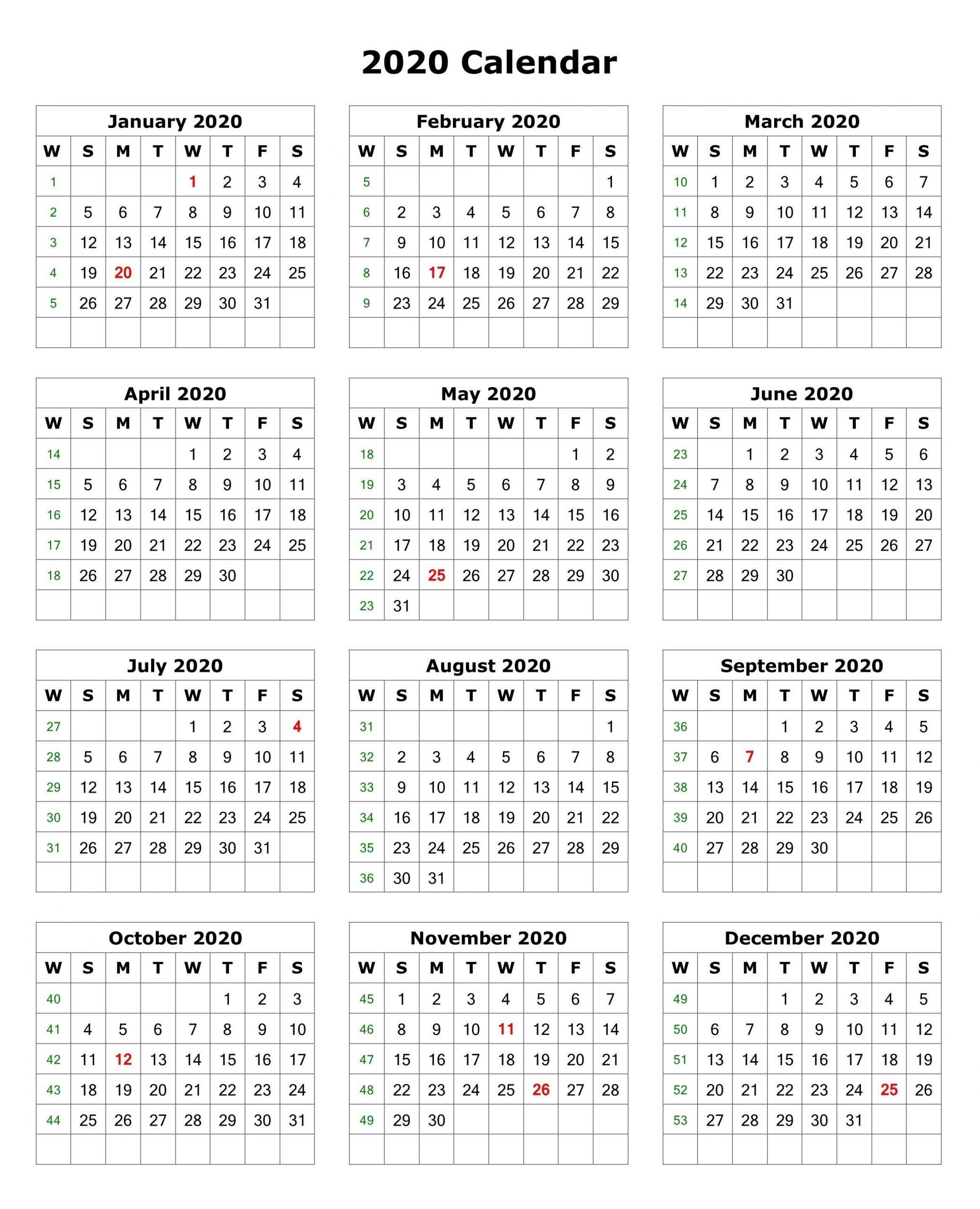 2020 Biweekly Payroll Calendar Template Excel