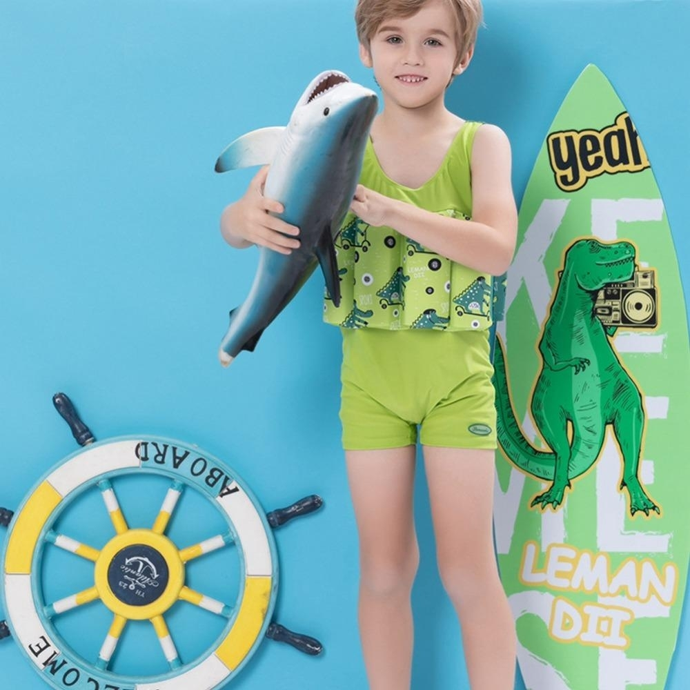 2020 Children Cartoon Cute Swimsuit Boys Buoyancy Swimwear