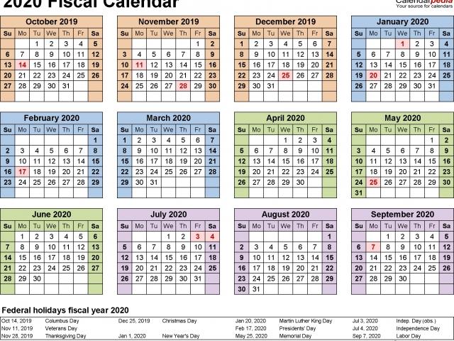 2020 Federal Pay Period Calendar – Payroll Calendar 2020