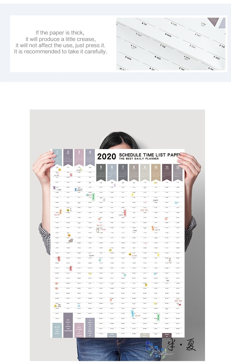2020 Wall Calendar + Stickers – Notebooktherapy