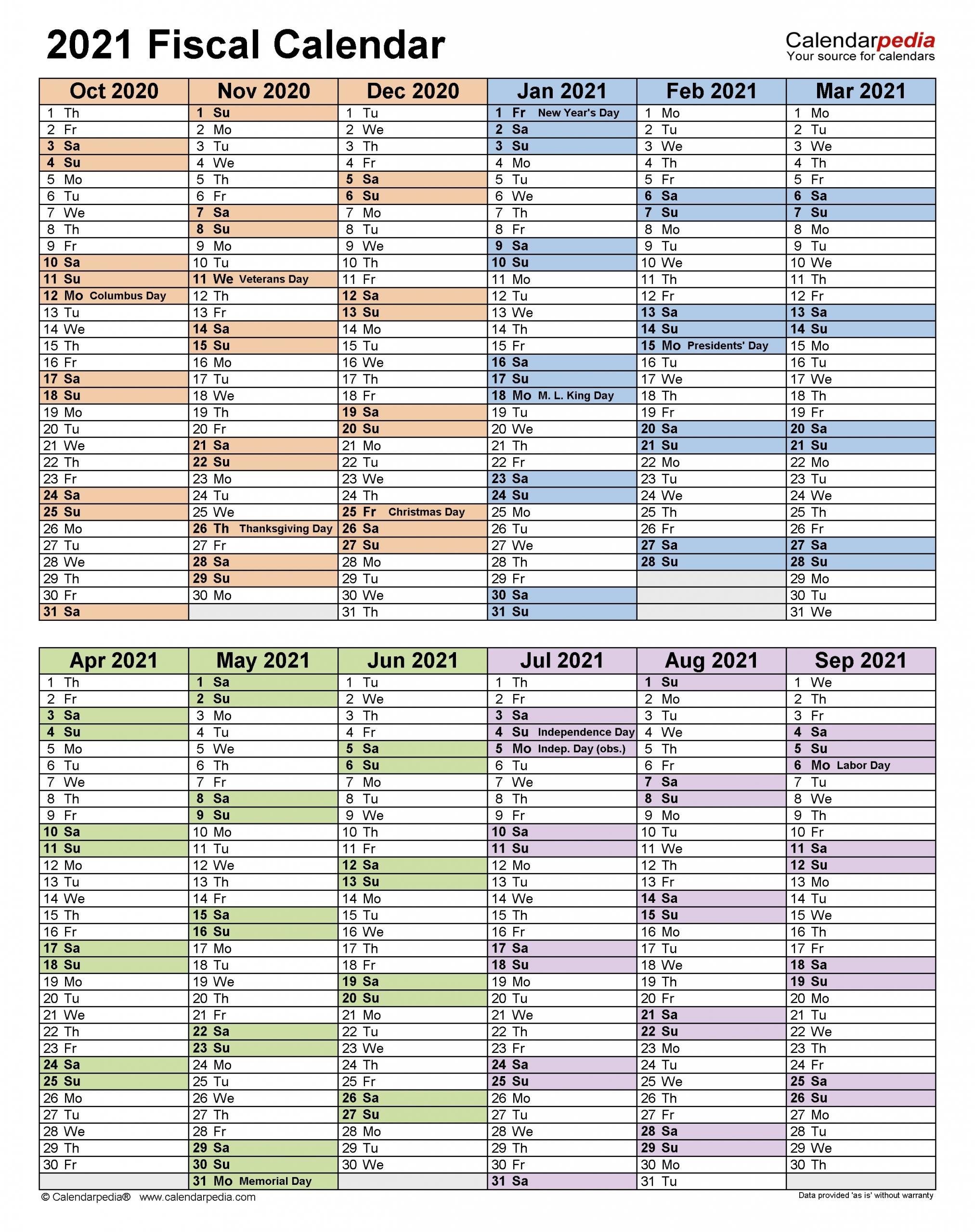 2021 19 Financial Calendar Printable – Template Calendar