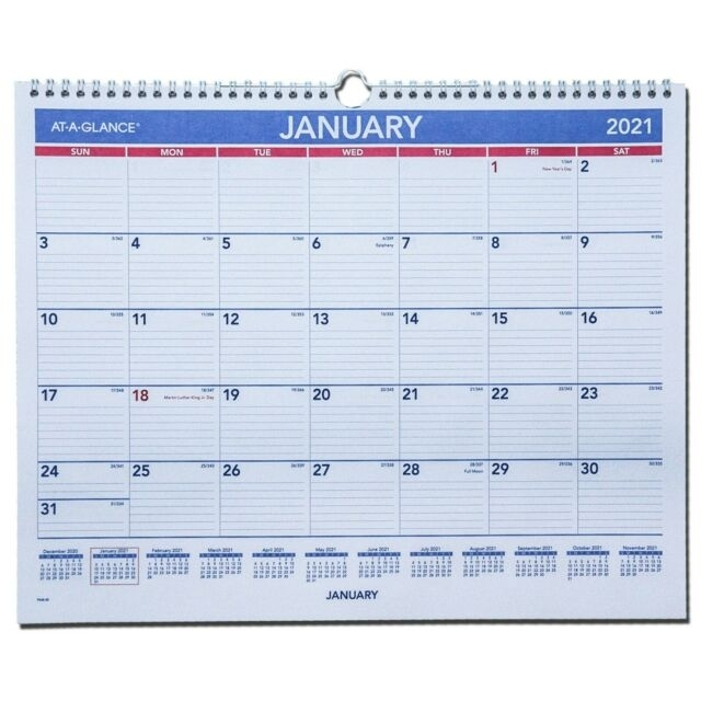 2021 At-A-Glance Pm8-28 Monthly Wall Calendar, 14-7/8 X 11