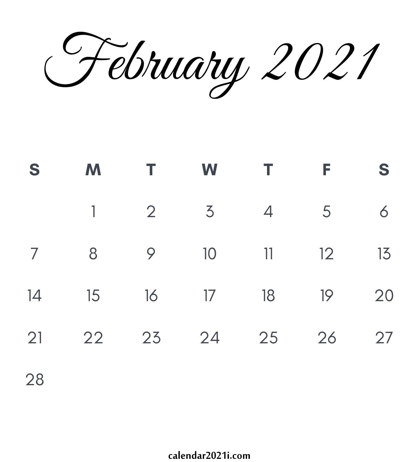 2021 Calendar Monthly Printable | Calendar 2021