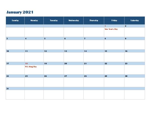 2021 Onenote Calendar Template - Free Printable Templates
