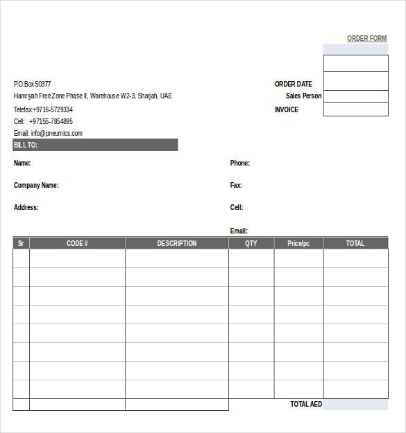 21+ Order Form Templates – Free Sample, Example, Format