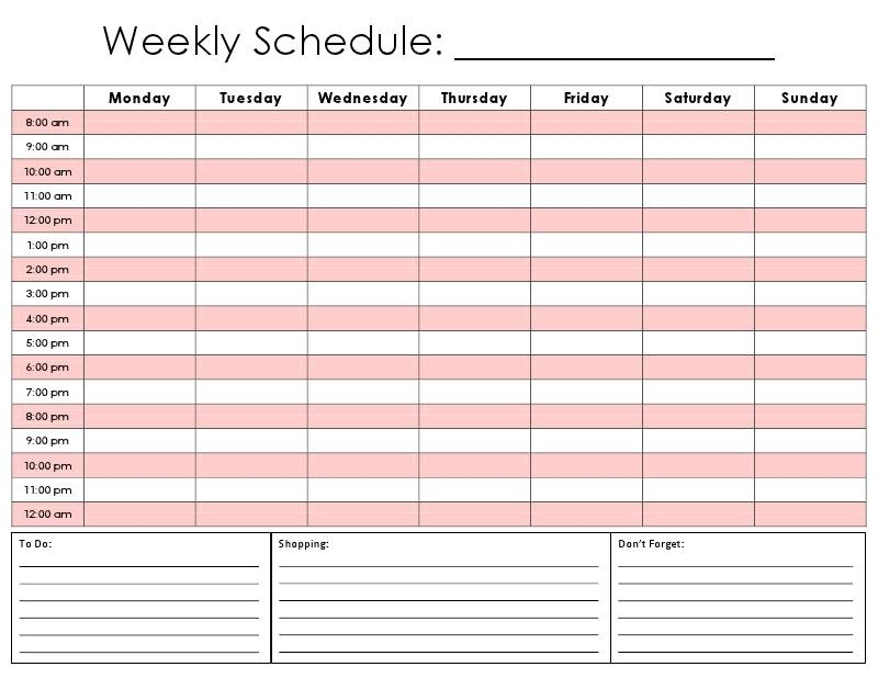24 Hour Planner | Template Business