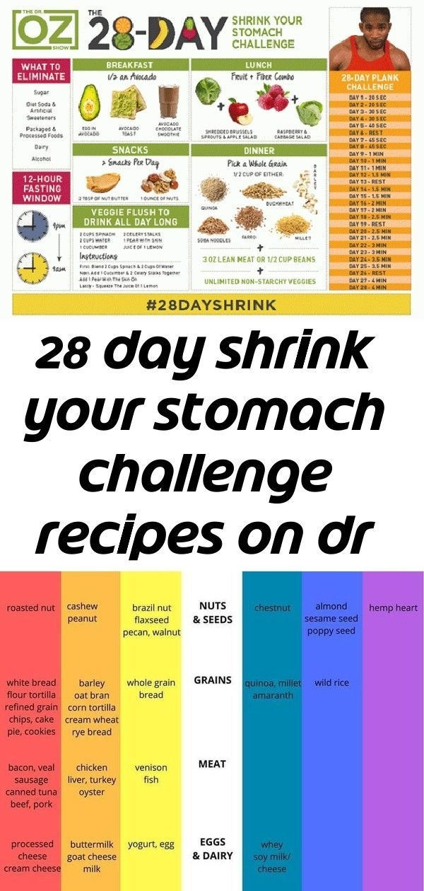 28 Day Shrink Your Stomach Challenge Recipes On Dr Oz