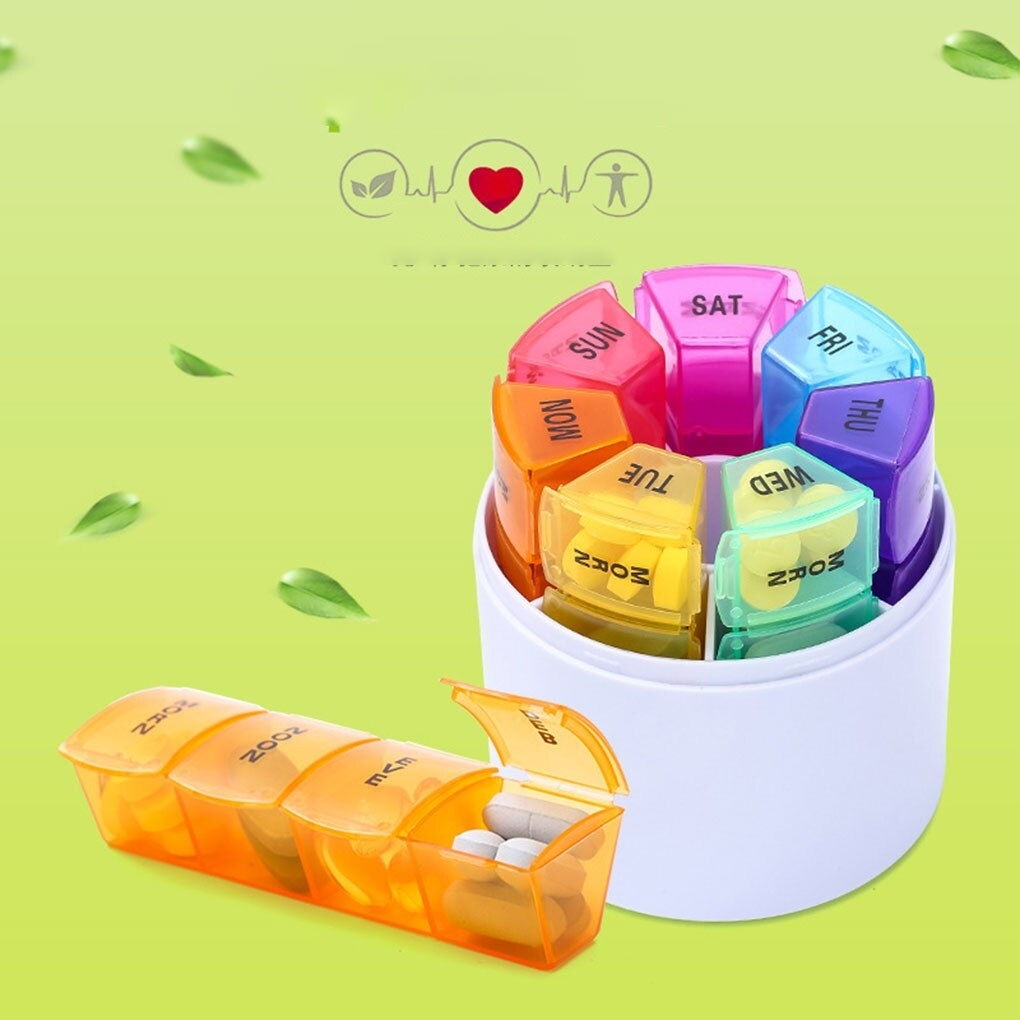 28 Grid 7 Day Style Pill Holder Storage Organizer Plastic