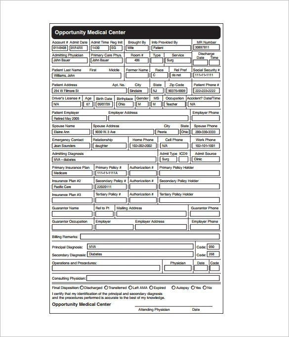 28 Patient Medical Chart Template In 2020 (With Images