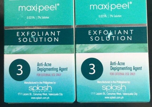 2X Maxi Peel 3 Anti Acne Astringent Solution 60Ml Expire