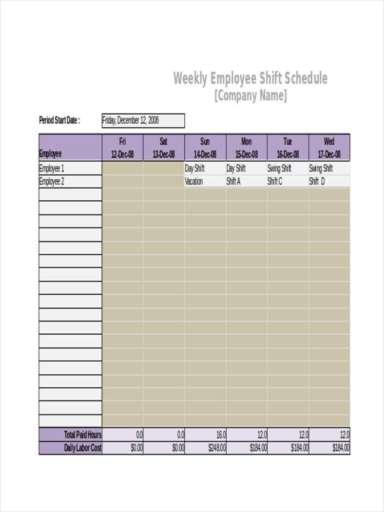 3+ Shift Calendar Templates - Pdf | Free & Premium Templates