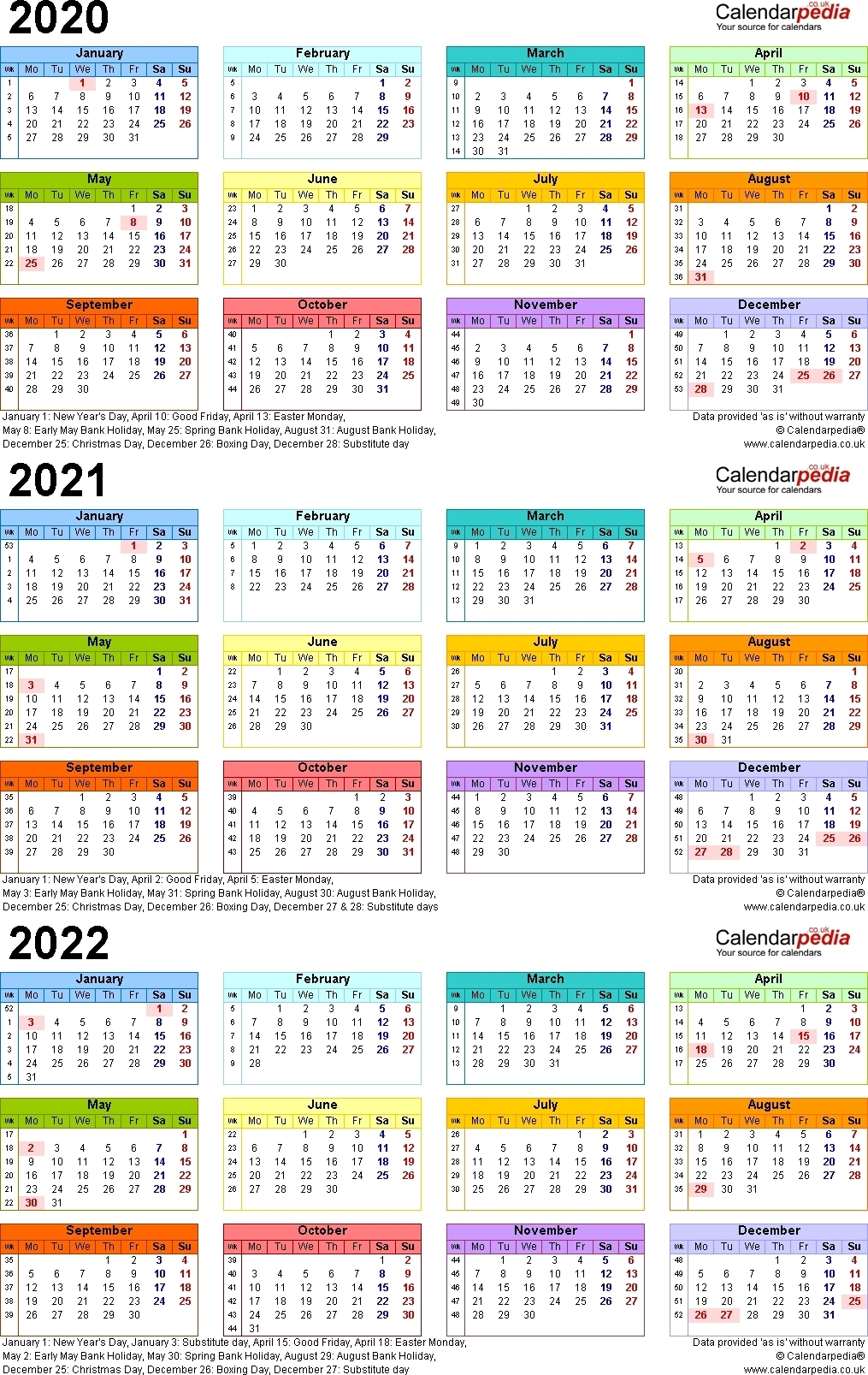 3 Year Calendar 2020 To 2021   Month Calendar Printable