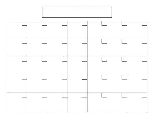 31 Day Blank Printable Calendar | Printable Calendar