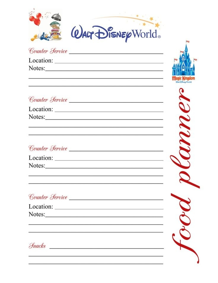 35 Best Disney-Binder/Itinerary/Printables Images On