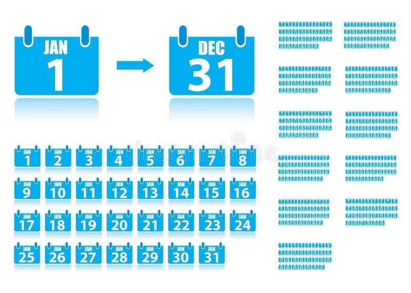 365 Day Calendar Stock Vector. Illustration Of March