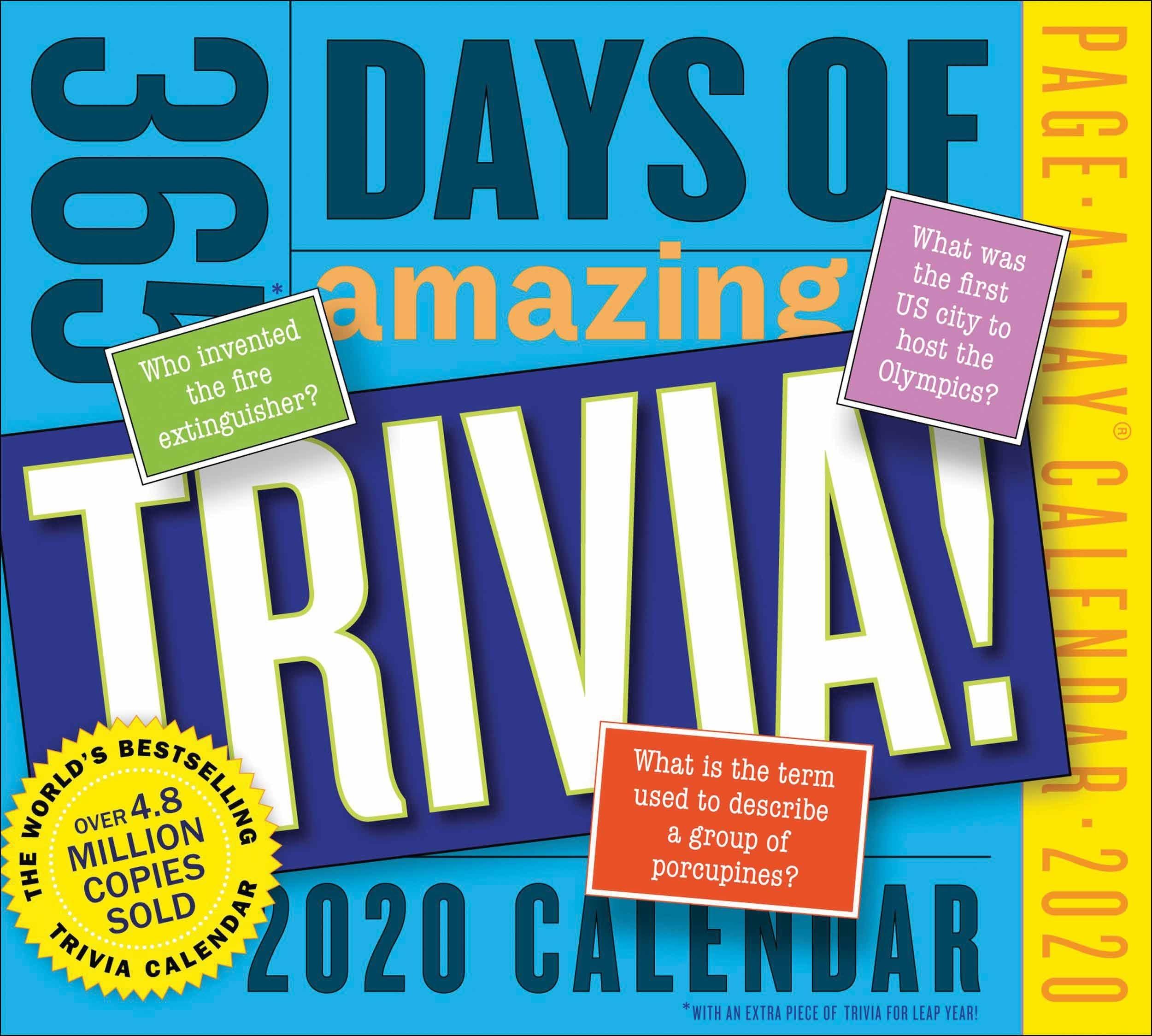365 Days Of Amazing Trivia Desk Calendar 2020 - Calendar