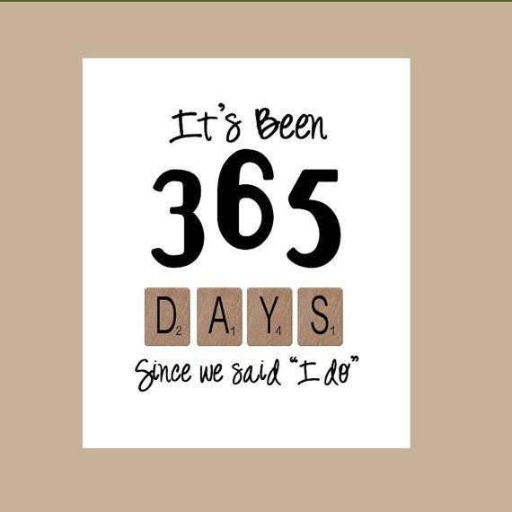 365 Days Wedding Anniversary Card 1St Wedding By