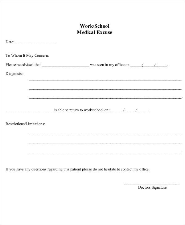 37+ Free Doctors Note Templates | Free & Premium Templates