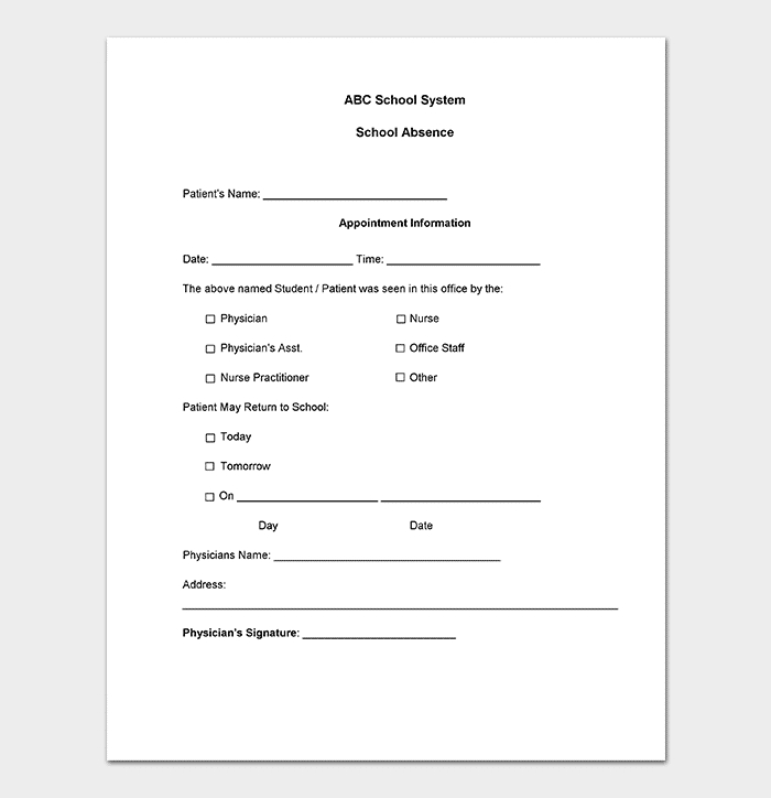 40+ Fake Doctors Note For Work Template Download (Pdf, Doc