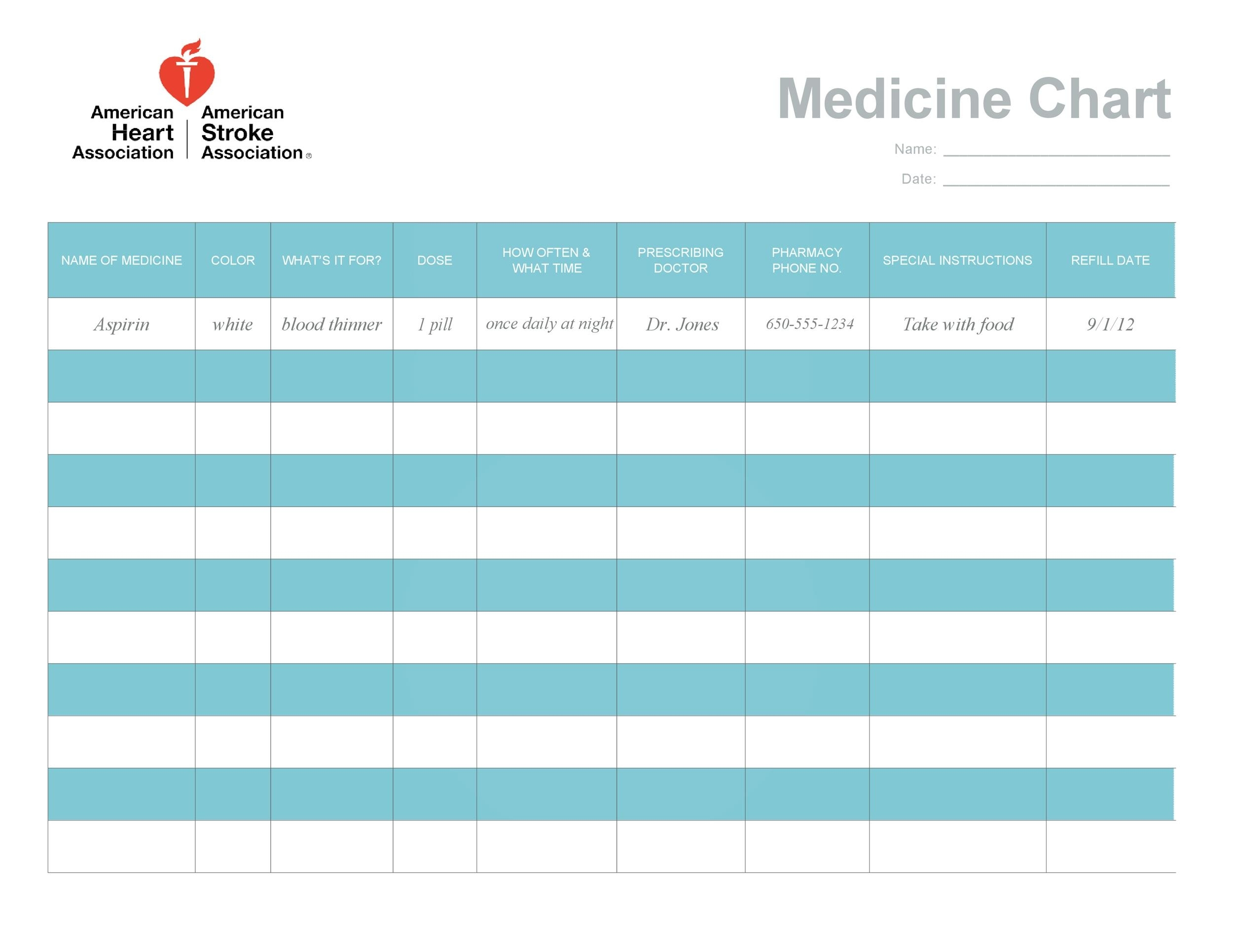 40 Great Medication Schedule Templates (+Medication Calendars)