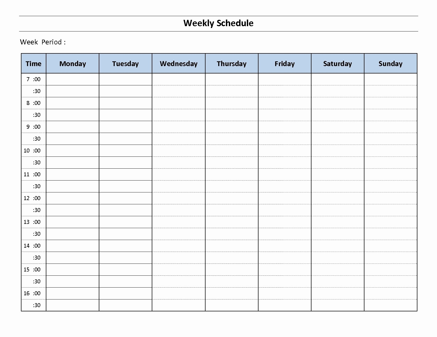45 Daily Planner With Time Slots | Ufreeonline Template