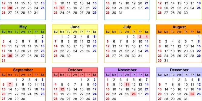 454 Retail Calendar 2020 | Free Printable Calendar - Part 58